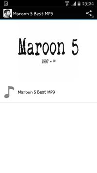 Maroon 5 Best MP3 poster