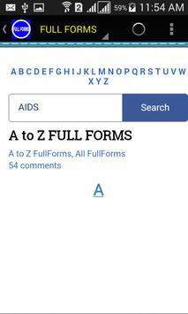 FULL FORMS apk screenshot