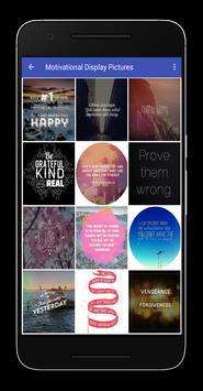 Motivational Display Pictures apk screenshot