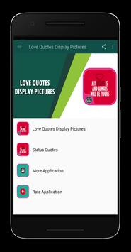 Love Quotes Display Pictures poster
