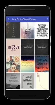 Love Quotes Display Pictures apk screenshot