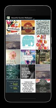 Beautiful Quotes Wallpaper poster