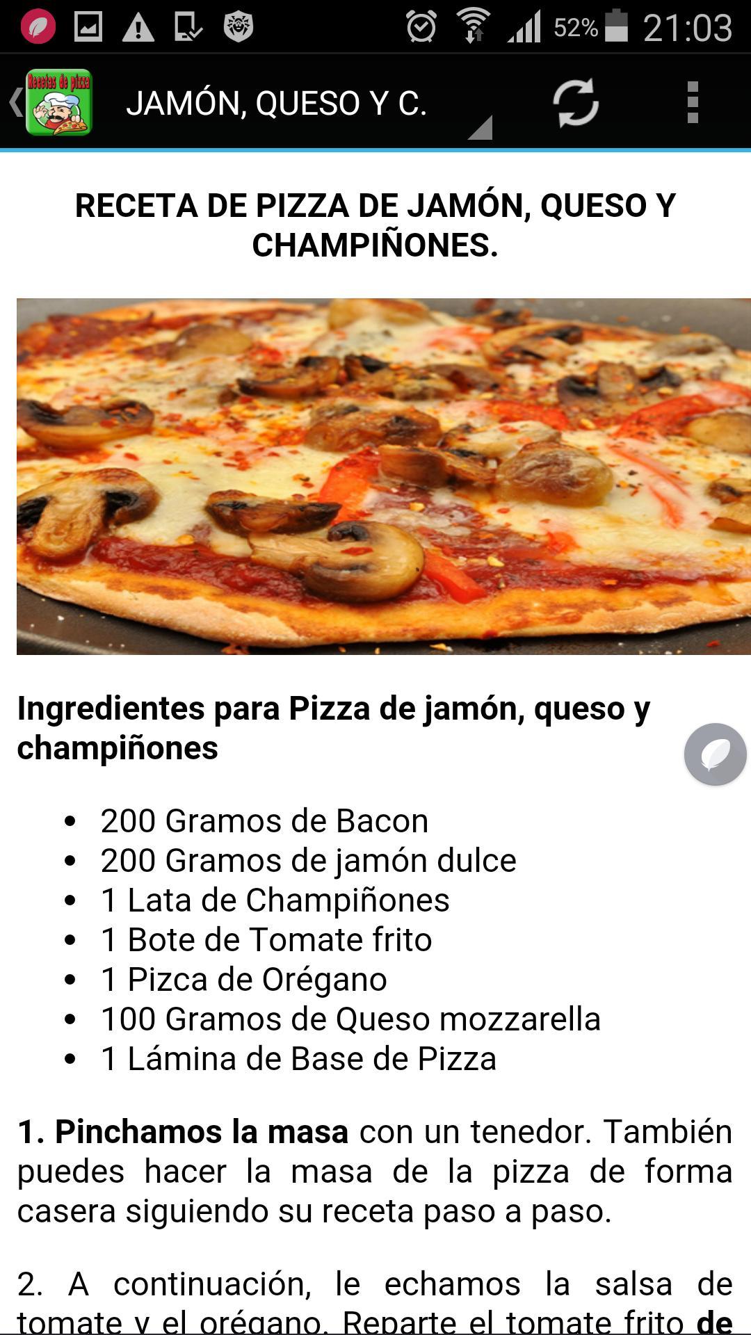 Recetas De Pizzas For Android Apk Download