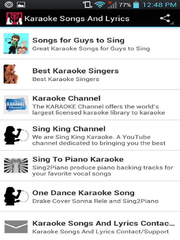 Karaoke Songs And Lyrics APK Download - Free Music & Audio APP for ...