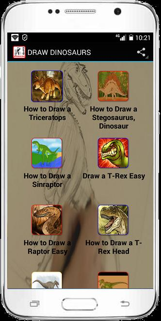 DRAW DINOSAURS poster