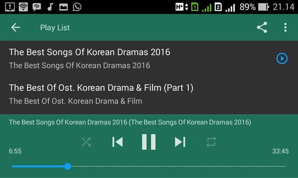 The Best Of Soundtrack Korean Drama & Film apk screenshot