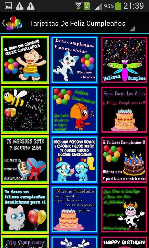 Feliz Cumpleaños Gratis Für Android Apk Herunterladen