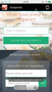 Singapore Food Delivery screenshot 1