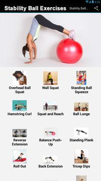 Stability Ball Exercises poster