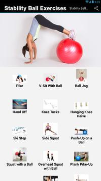 Stability Ball Exercises screenshot 1