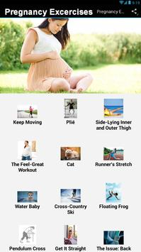 Pregnancy Excercises poster