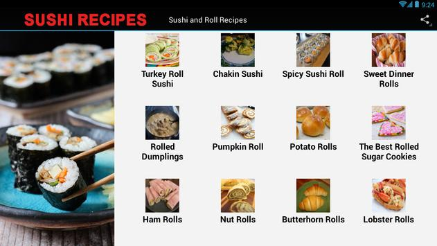 Sushi And Rolls Recipes apk screenshot