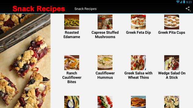 Snack Recipes screenshot 2