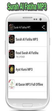 Surah Al Fatiha MP3 poster