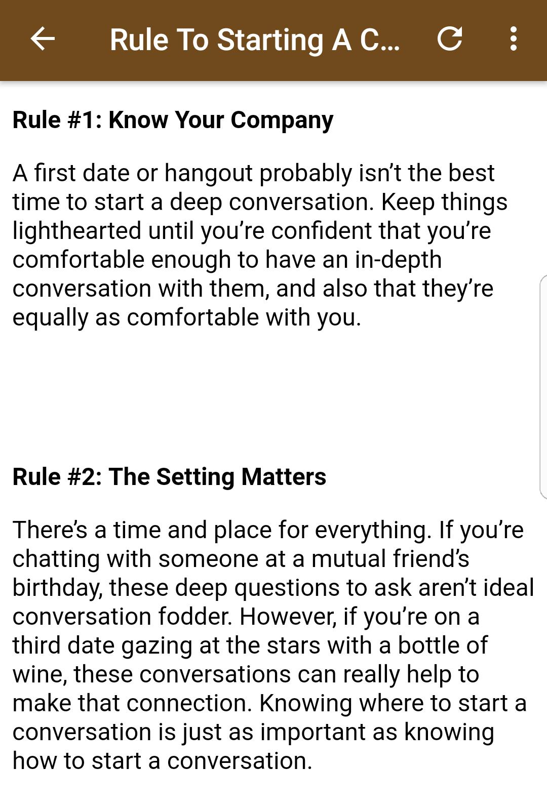 Best Conversation Starters for Android - APK Download