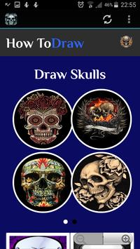 How To Draw Skulls poster