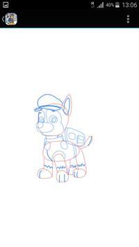 Paw Pup Dog Drawing screenshot 2