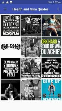 Health and Gym Quotes poster