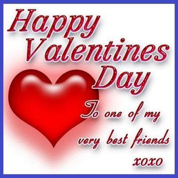 Messages for Valentin day poster