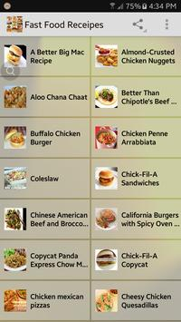 Fast Food Receipes poster