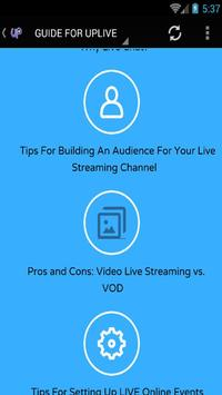 GUIDE FOR UPLIVE screenshot 4