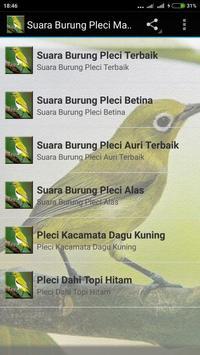 Suara Burung Pleci Gacor mp3 screenshot 3