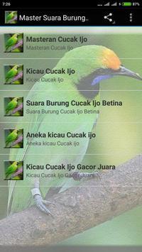 Suara Cucak Ijo Gacor mp3 screenshot 2