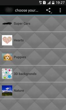 Choose Your Bacground apk screenshot