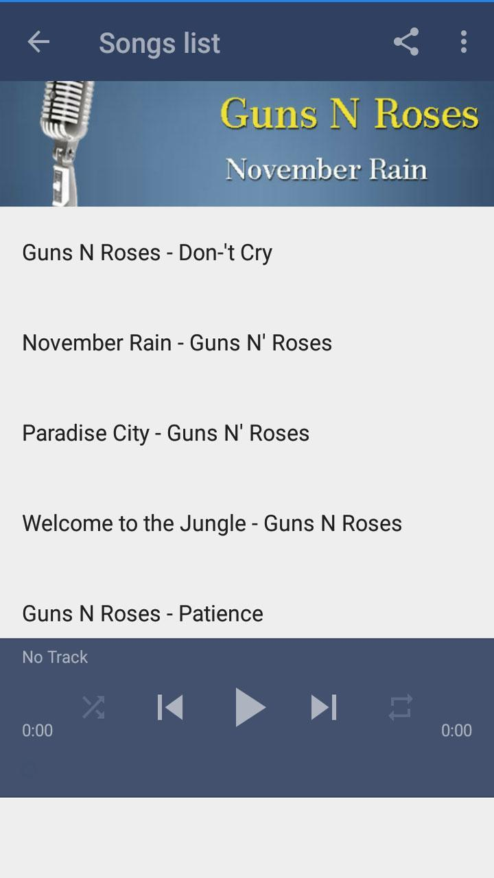 Guns N' Roses Mp3 for Android - APK Download