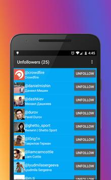 fast unfollow for instagram poster