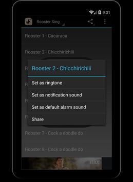 Wild Rooster Sounds apk screenshot