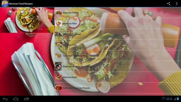 Mexican Food Recipes! screenshot 1