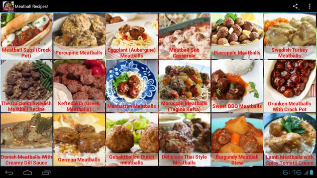 Meatball Recipes! screenshot 1
