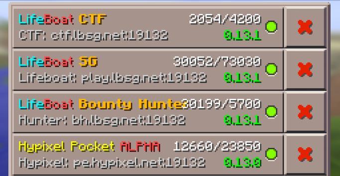 Servers for Minecraft PE 0.16 apk screenshot