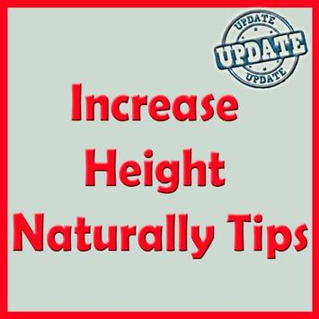 Increase Height Naturally Tips poster