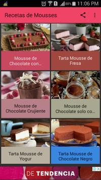 Recetas de Mousses poster