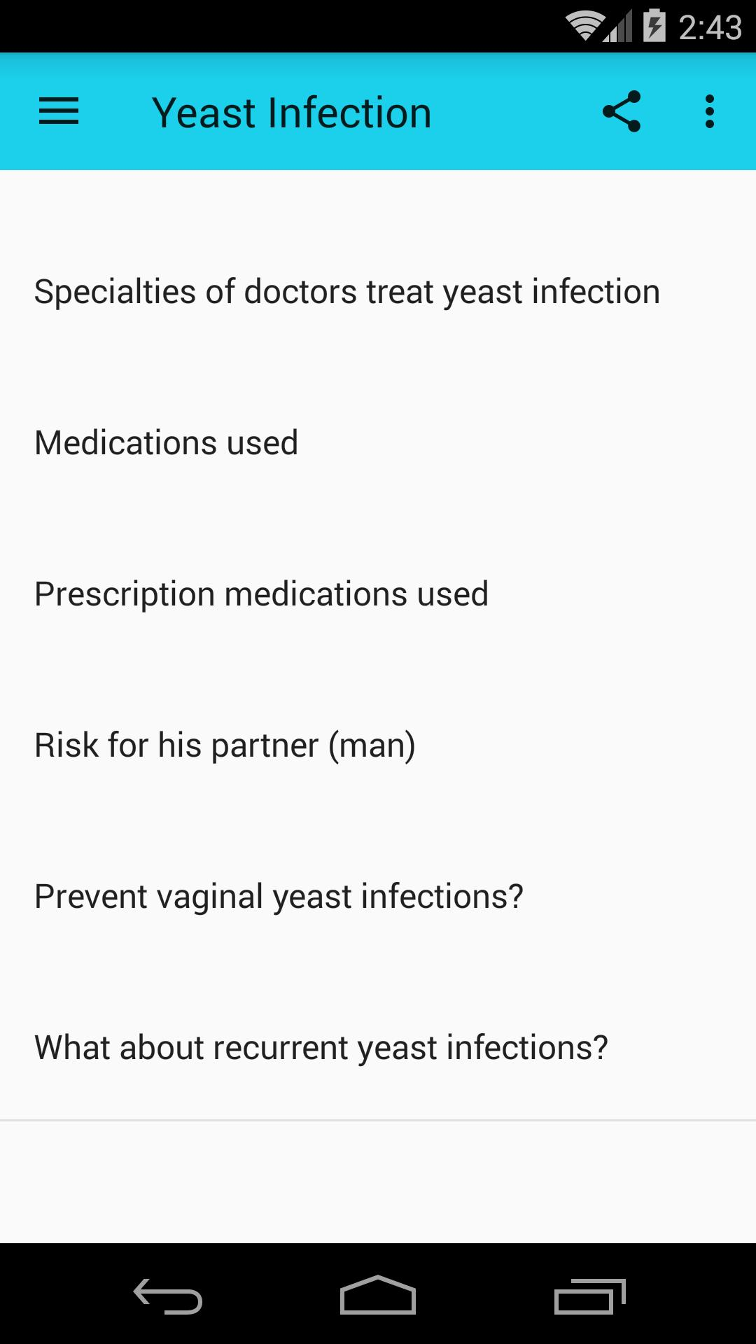 webmd síntomas de infección por levaduras