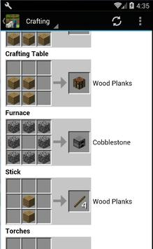 Guide for Minecraft Crafting screenshot 1