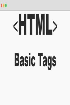 HTML Tags List poster