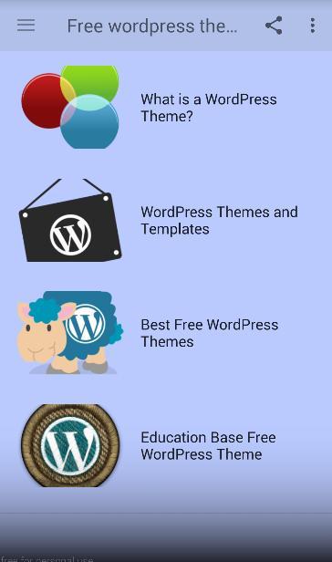 Free wordpress themes poster