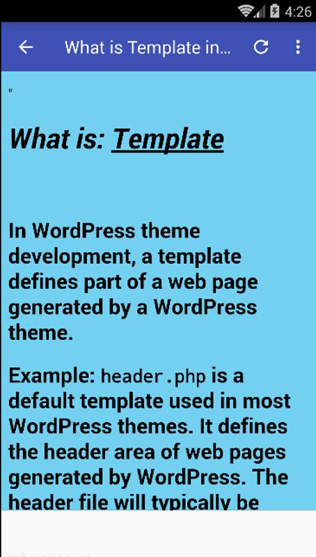 Wordpress Templates For Android Apk Download