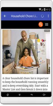House chores poster