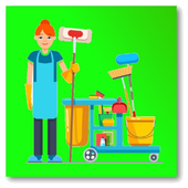 House cleaning schedule icon