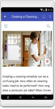 House cleaning schedule poster