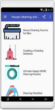 House cleaning schedule apk screenshot