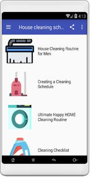 House cleaning schedule screenshot 1