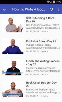 Book writing apk screenshot