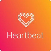 Heartbeat science icon