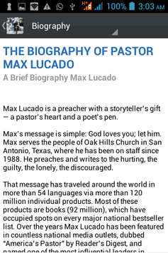 Max Lucado Ministry Daily poster