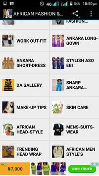 AFRICAN FASHION AND STYLE apk screenshot